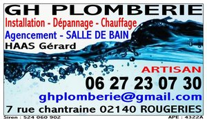 GH PLOMBERIE Rougeries, Plombier